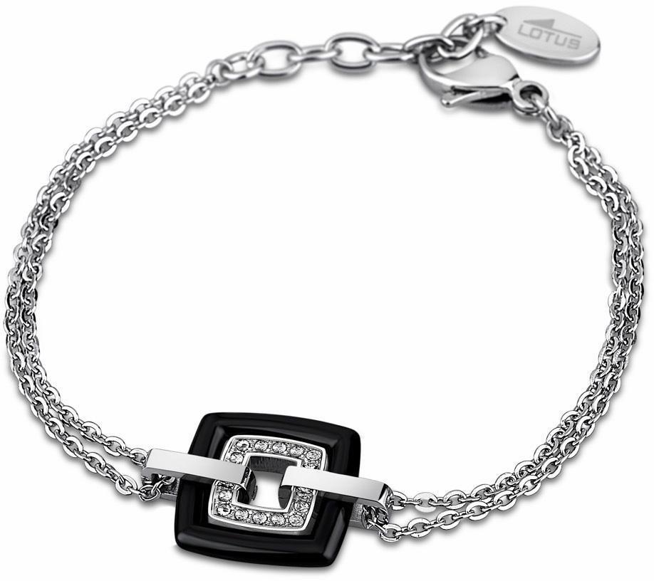 Lotus Style Armband »Armband, Ceramic, LS1705-2/2« mit Glassteinen in silberfarben-schwarz