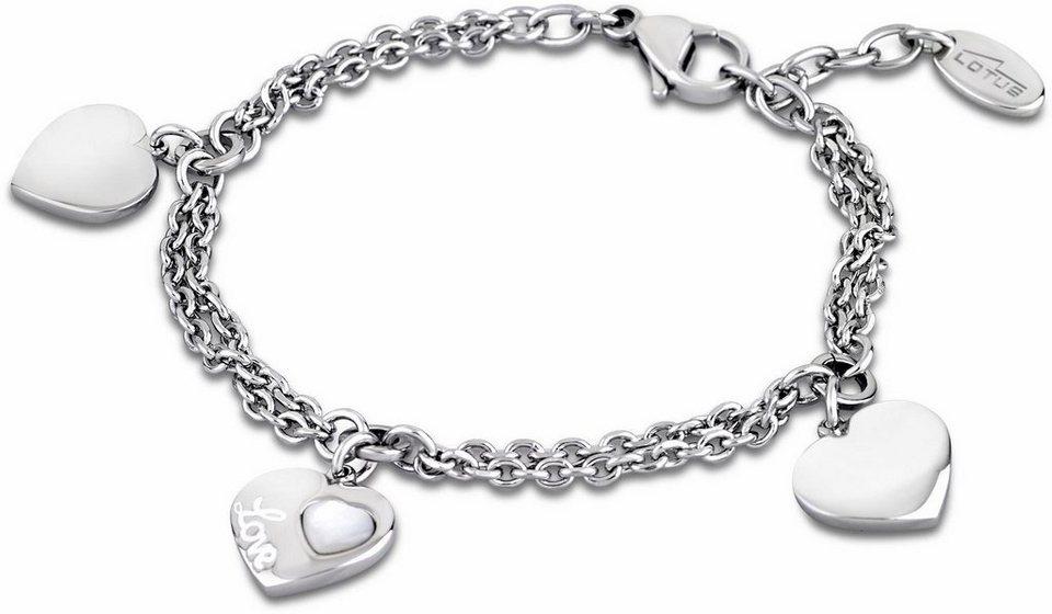 Lotus Style Armband »Armband, Woman´s Heart, LS1748-2/1« mit Perlmutteinlage in silberfarben