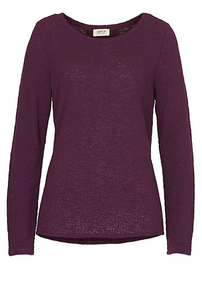 Cartoon Sweatshirt in Dark Purple - Bunt