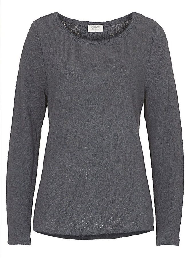 Cartoon Sweatshirt in Neutral Grey - Grau
