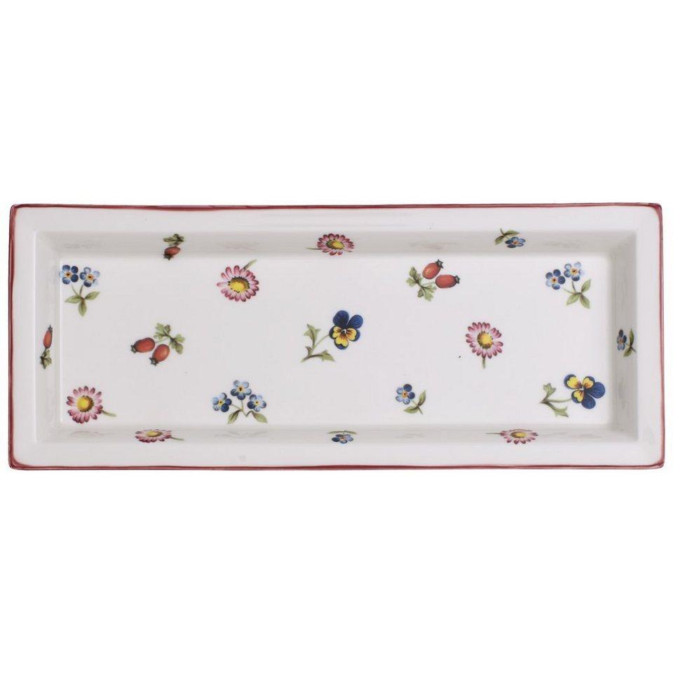 VILLEROY & BOCH Schale rechteckig 23,6x9,7cm »Petite Fleur Gifts« in Dekoriert