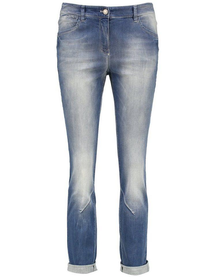 Gerry Weber Hose Jeans verkürzt »Verkürzte Jeans mit Used-Effekten« in Bleach Denim Use-Eff