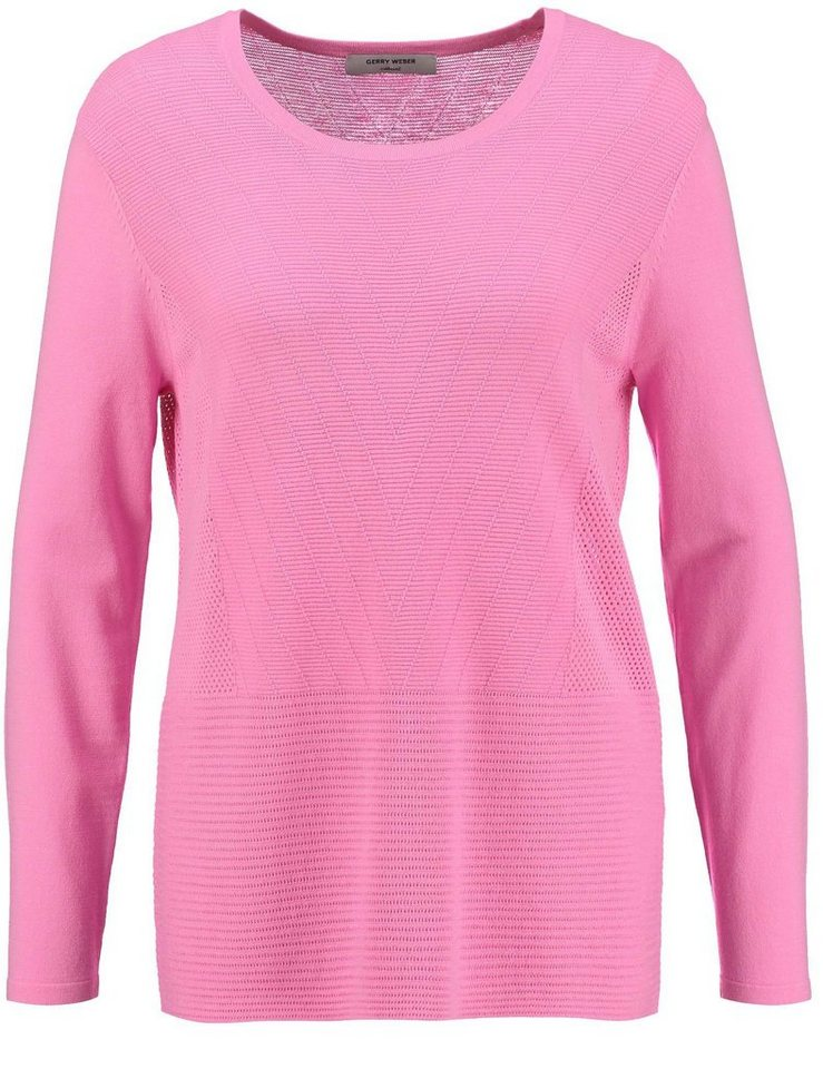 Gerry Weber Pullover Langarm Rundhals »Vielseitiger Langarmpullover« in Flamingo