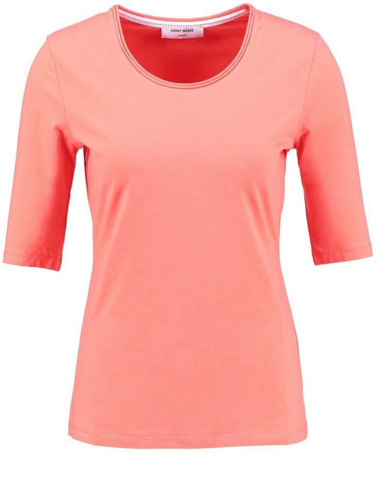 Gerry Weber T-Shirt 1/2 Arm »1/2 Arm Shirt aus Stretchbaumwolle« in Lobster