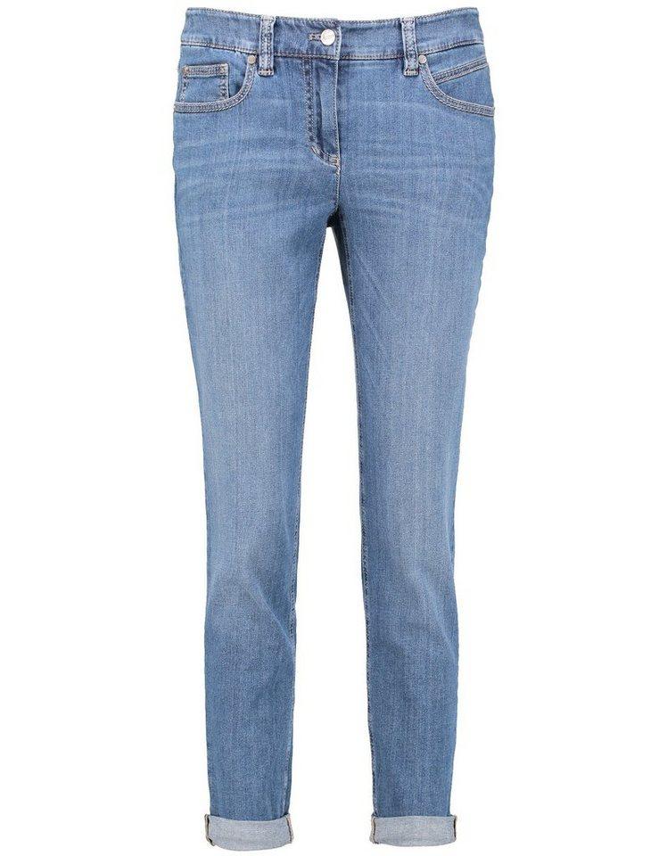 Gerry Weber Hose Jeans verkürzt »Ultramodische 3/4 Hose« in Blue Denim Use-Effek