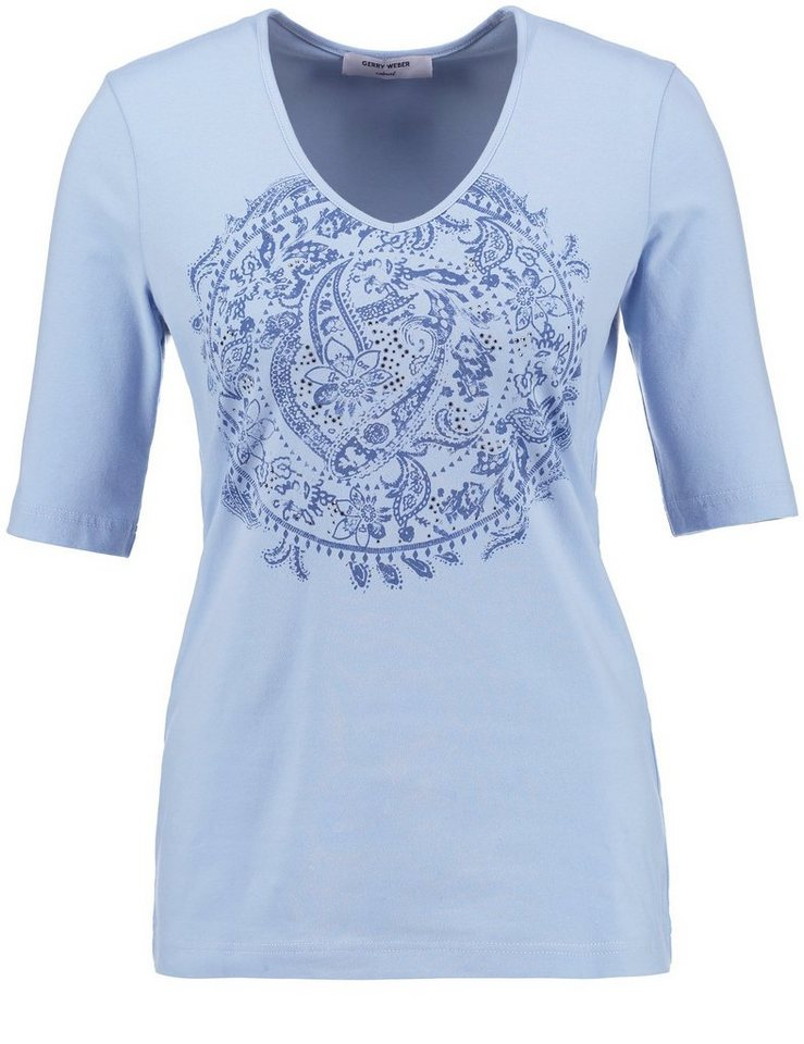 Gerry Weber T-Shirt 1/2 Arm »Glamouröses 1/2 Arm Shirt« in Blau Druck