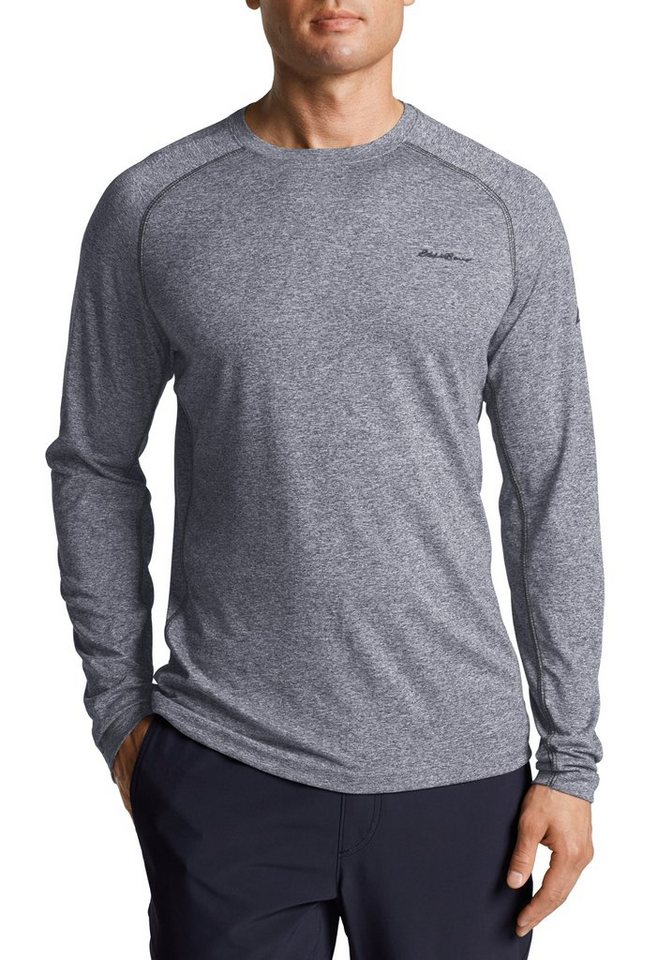 Eddie Bauer Resolution Shirt langarm in Grau meliert