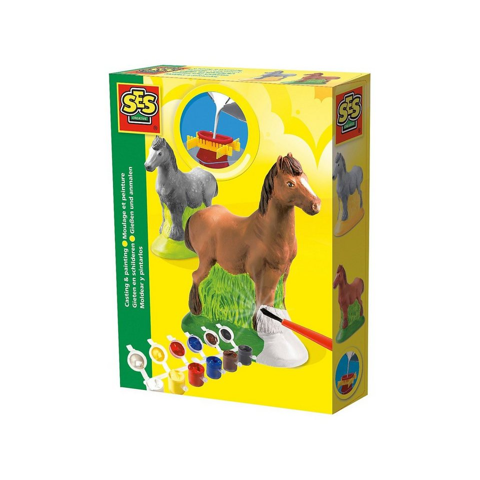 SES Creative Kreativset Gießen und Anmalen - Pferd