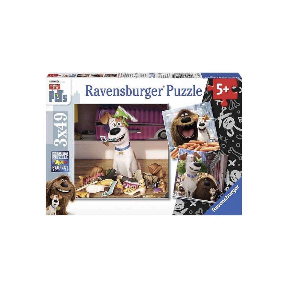 Ravensburger Puzzleset 3 x 49 Teile Secret Life of Pets