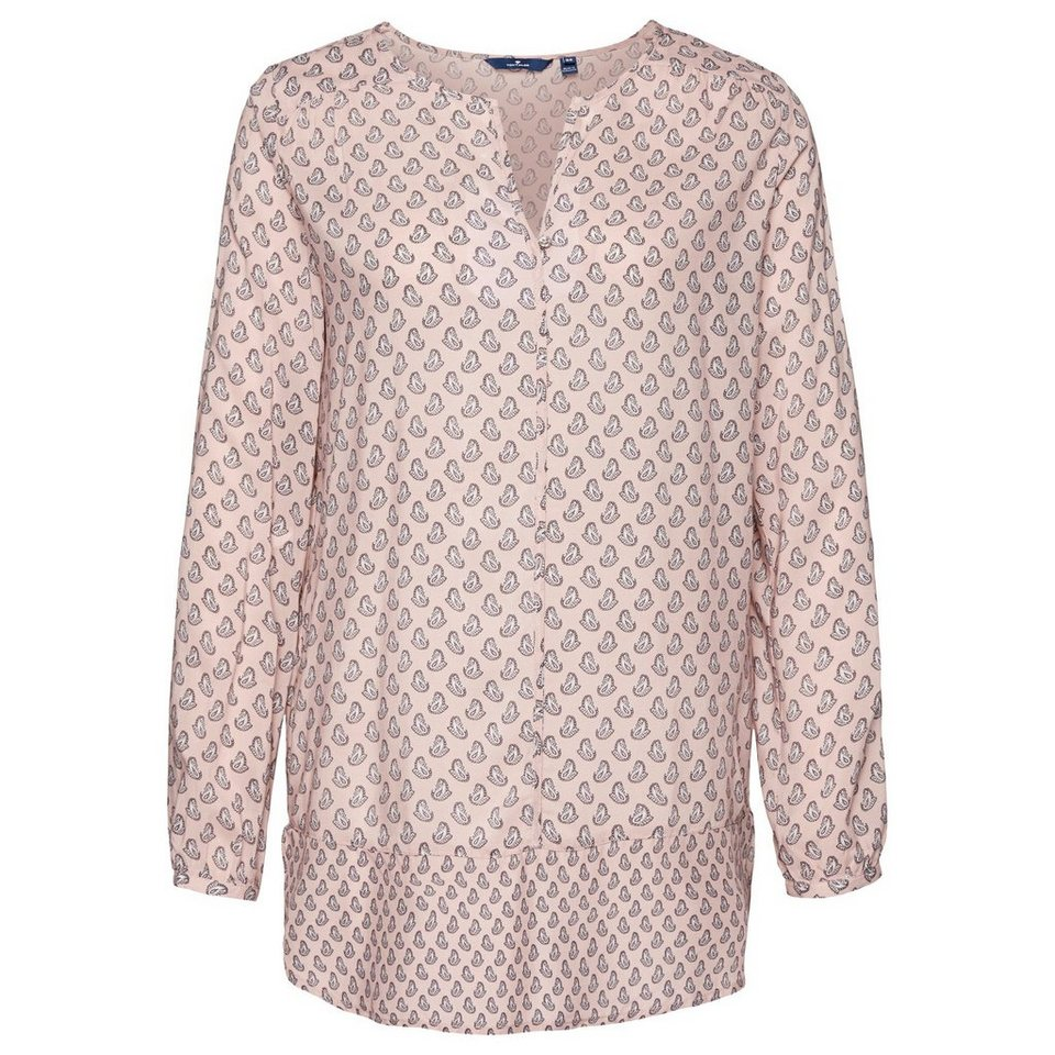 TOM TAILOR Bluse »Tunika-Bluse mit Paisley-Muster« in Taste of berry