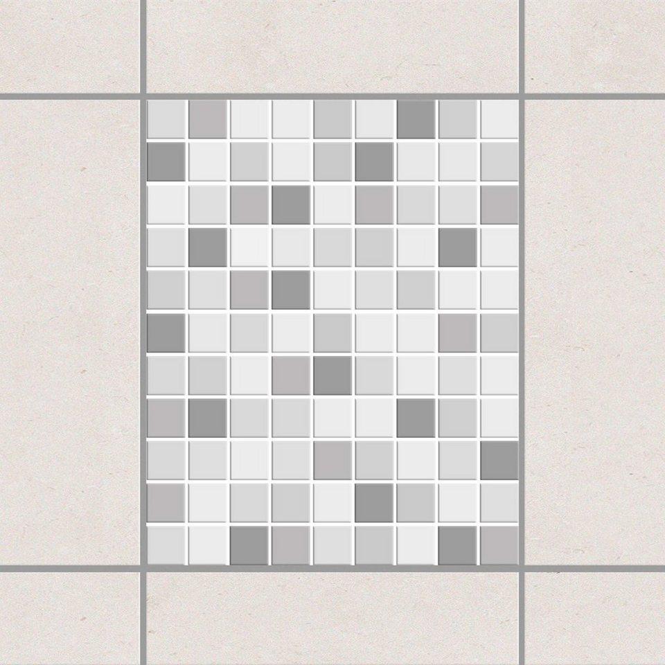 Bilderwelten Fliesenaufkleber Set 25x20 cm »Mosaik Winterset« in Grau
