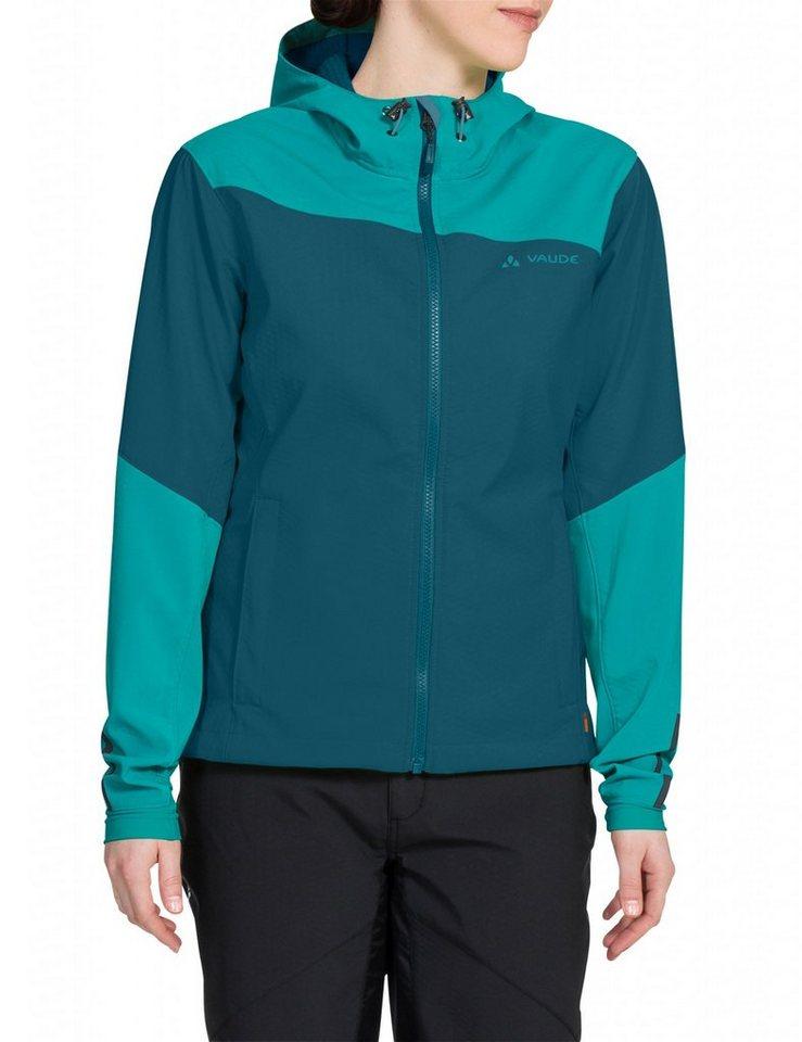 VAUDE Radjacke »Chiva Softshell Jacket Women« in blau