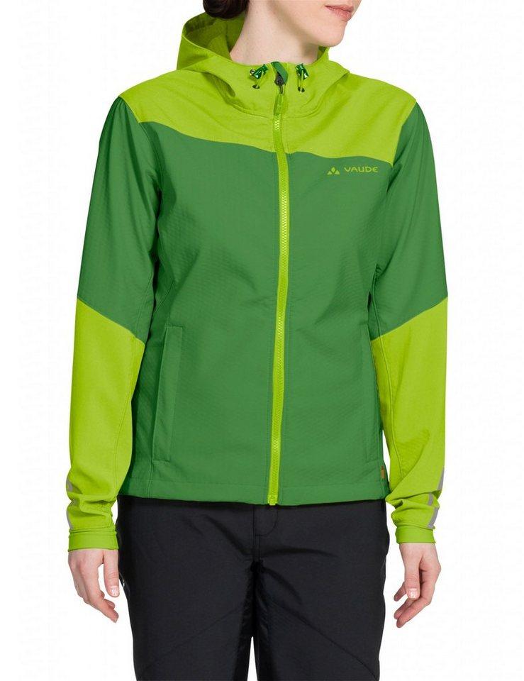 VAUDE Radjacke »Chiva Softshell Jacket Women« in grün