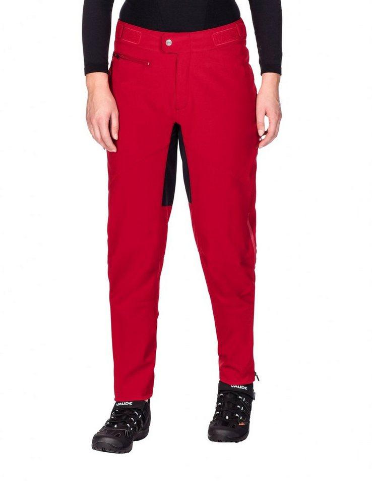 VAUDE Radhose »Qimsa II Softshell Pants Women« in rot