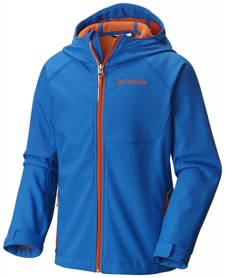 Columbia Outdoorjacke »Cascade Ridge Softshell Jacket Boys« in blau