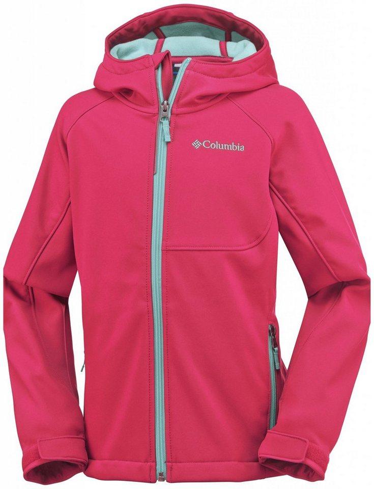 Columbia Outdoorjacke »Cascade Ridge Softshell Jacket Girls« in rot