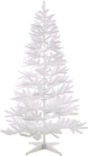 Home affaire Künstlicher Weihnachtsbaum, in edlem Weiß, mit Metallständer