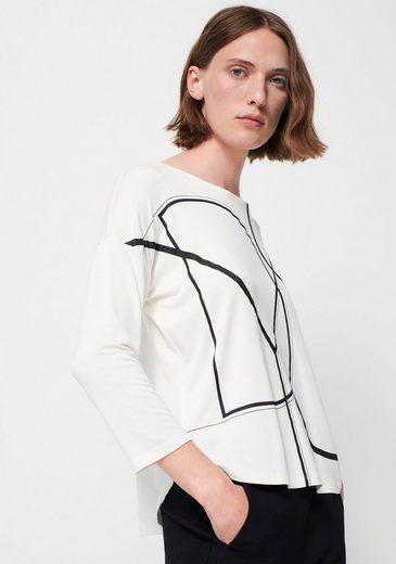 someday Langarmshirt »Kol« mit geometrischem Front-Print