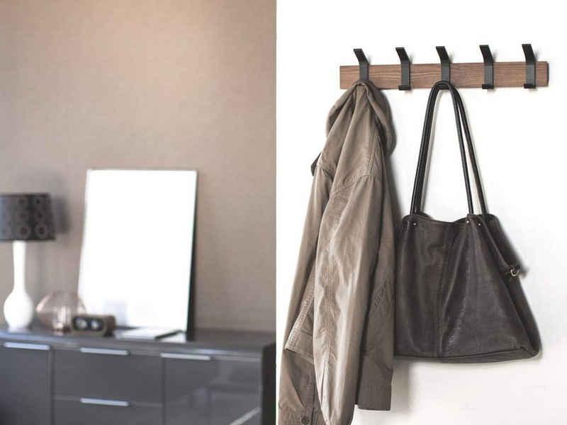 Yamazaki Garderobenleiste »Rin«, Hakenleiste, Wandleiste, 5 Haken, modernes Design