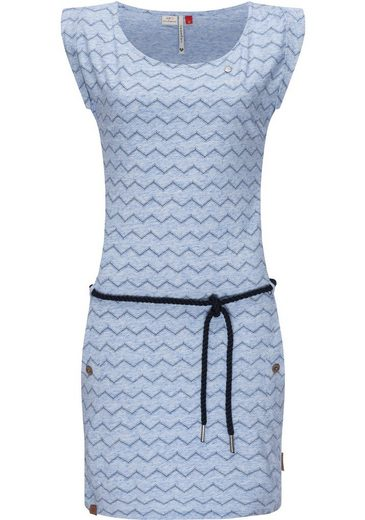 Ragwear Sommerkleid »Tag Chevron Intl.« leichtes Jersey-Kleid in melierter Optik