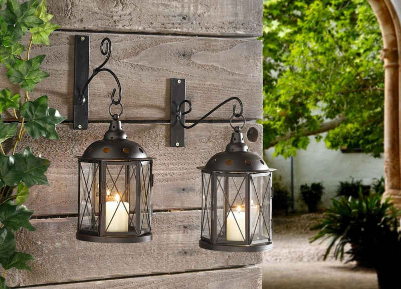 HomeLiving Windlicht »Metall-Laterne«