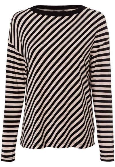 Zero T-Shirt »Langarm mit Streifen« Plain/ohne Details