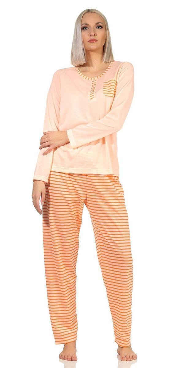 EloModa Pyjama »Damen Pyjama lang zweiteiliger Schlafanzug, M L« (2 tlg)