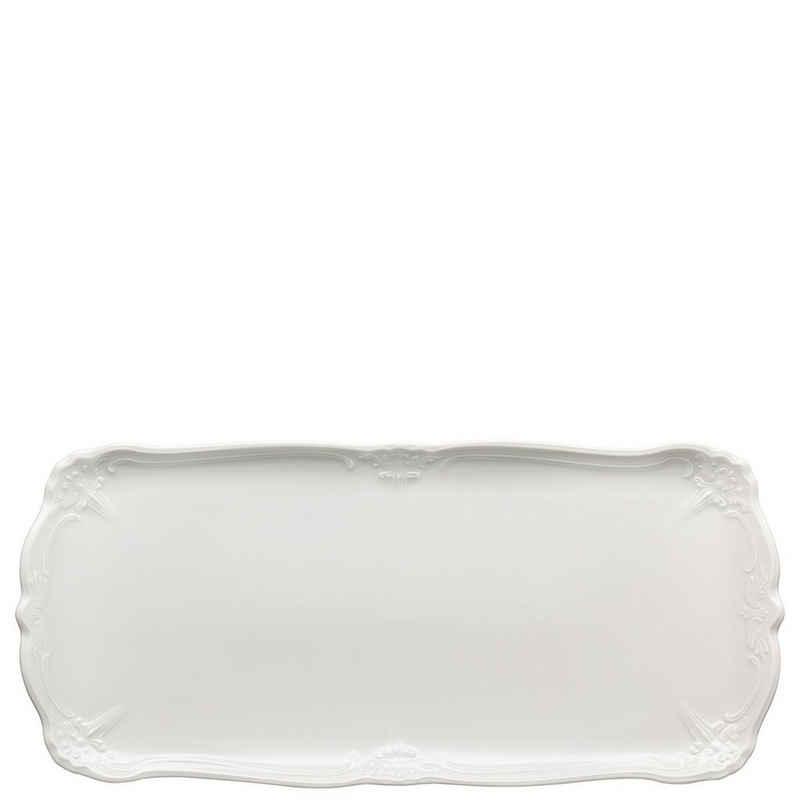 Hutschenreuther Kuchenplatte »Baronesse Weiß Kuchenplatte rechteckig«, Porzellan