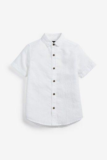 Next Kurzarmhemd »Hemd aus Leinengemisch«