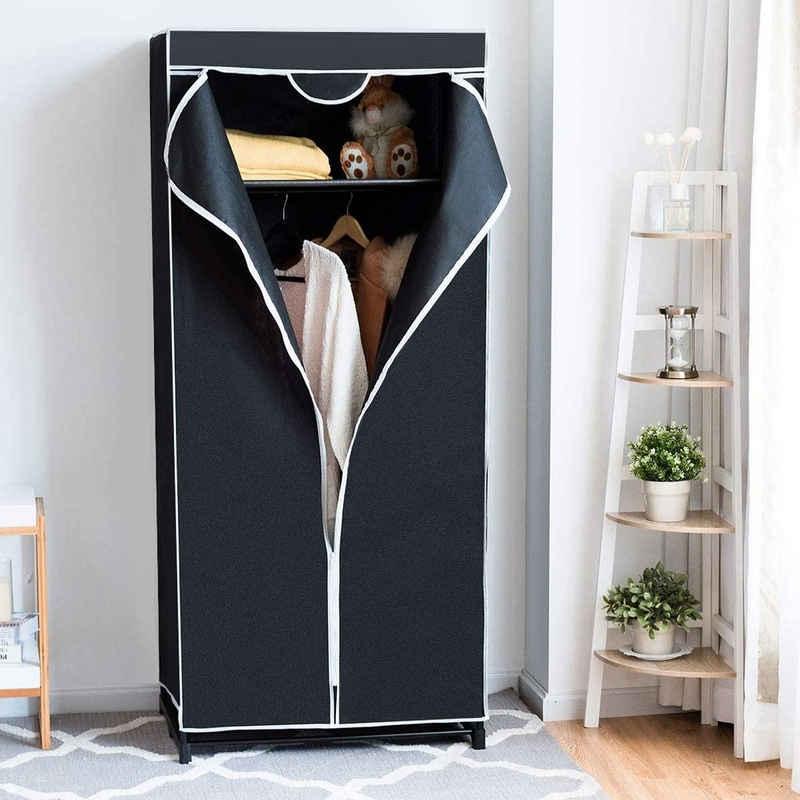 COSTWAY Kleiderschrank »Faltschrank Textilschrank Stoffkleiderschrank« mit Kleiderstange, 172x74x50cm