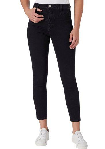 Calvin Klein Jeans Skinny-fit-Jeans »HIGH RISE SKINNY ANKLE« mit kleiner V-Passe vorn & hinten