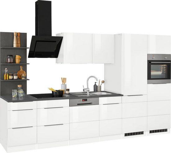 HELD MÖBEL Küchenzeile »Brindisi«, mit E-Geräten, Breite 340 cm