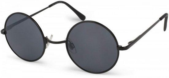 styleBREAKER Sonnenbrille »Sonnenbrille mit kleinen runden Gläsern und Metallrahmen« Getönt