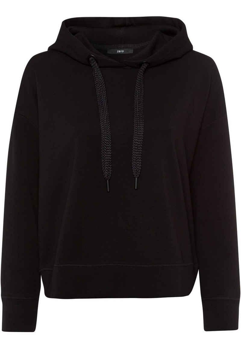 Zero Sweatshirt »mit Kordeln« Bindedetail