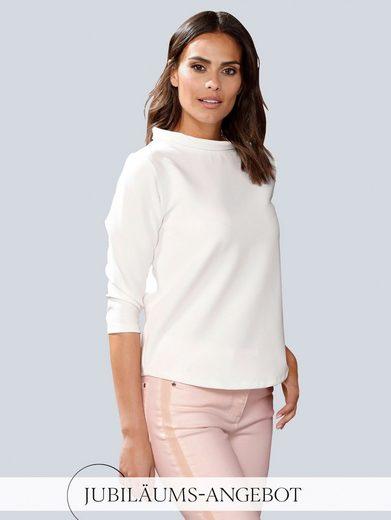 Alba Moda 3/4-Arm-Shirt mit weitem Stehkragen