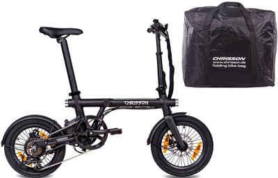 Chrisson E-Bike »ERTOS16 v2.0«, 7 Gang Shimano Tourney RD-FT35 Schaltwerk, Kettenschaltung, Heckmotor 250 W