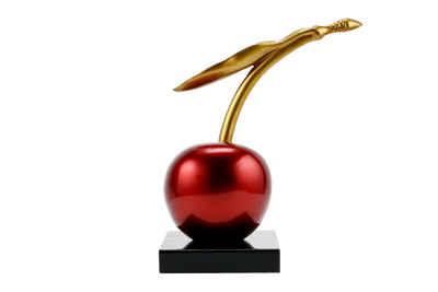 KUNSTLOFT Dekofigur »The Cherry On Top«, handgefertigte Figur aus Kunststein
