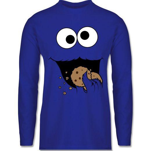 Shirtracer Rundhalsshirt »Keks-Monster - Herren Langarmshirt«