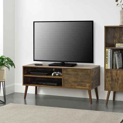 en.casa Lowboard, TV-Board, »Älvsbyn« Fernsehtisch Sideboard Kommode 110x40x50cm Holzfarben