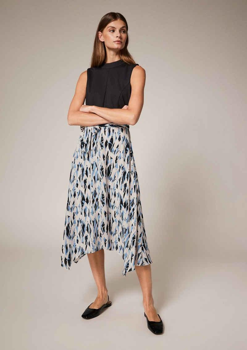 Comma Minikleid »Kleid mit bedrucktem Rockteil«