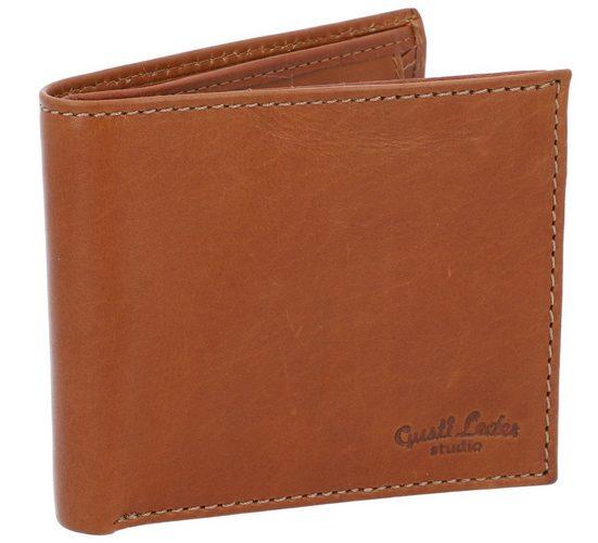 Gusti Leder Geldbörse »Runer« (1-tlg), Portemonnaie Brieftasche Kartenetui Geldbeutel