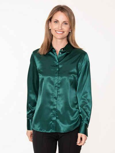 Mona Hemdbluse aus elastischem Satin