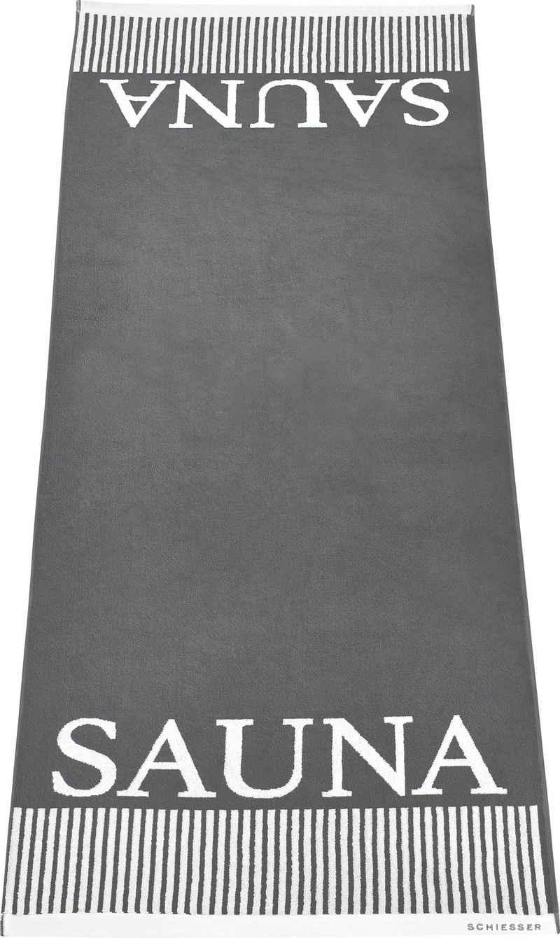 Schiesser Saunatuch »Rom« (1-St), Sauna-Aufschrift