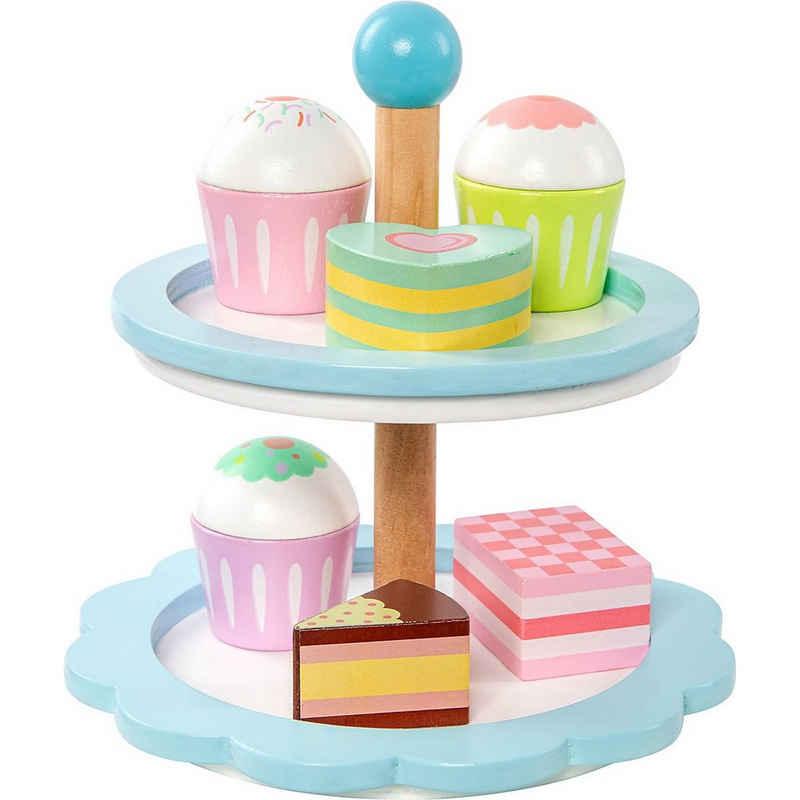 myToys Spiellebensmittel »Kuchenetagere pastell, 7-tlg.«