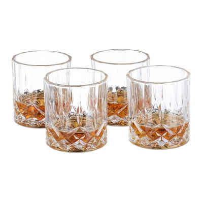 relaxdays Whiskyglas »Whisky Gläser 4er Set«, Glas