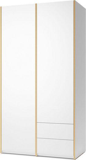 Müller SMALL LIVING Kleiderschrank »Modular Plus Variante 2« Inklusive 2 kleiner Schubladen unten rechts