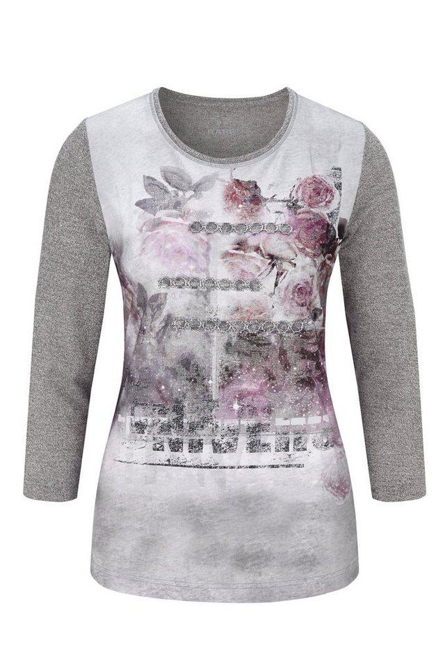 Rabe Shirt mit Print und Besatz in FLANELL