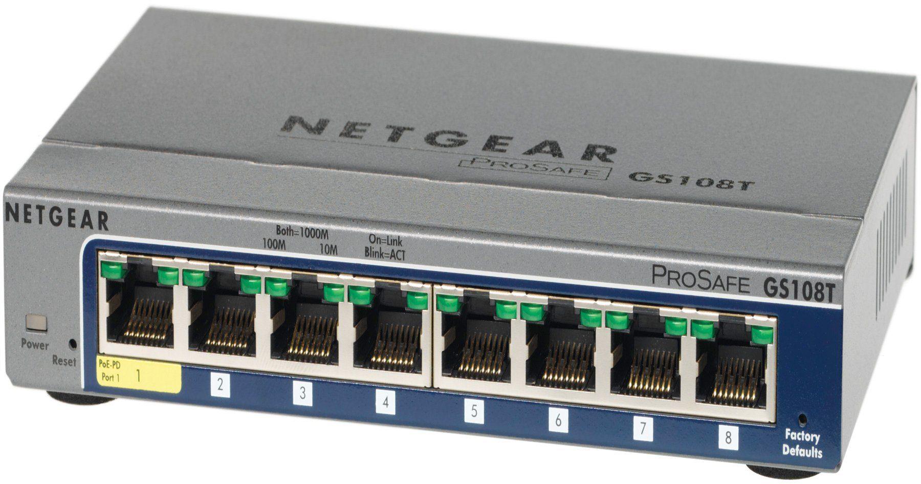 Netgear Switch »GS108T 8-Port GB Smart Switch Desktop«