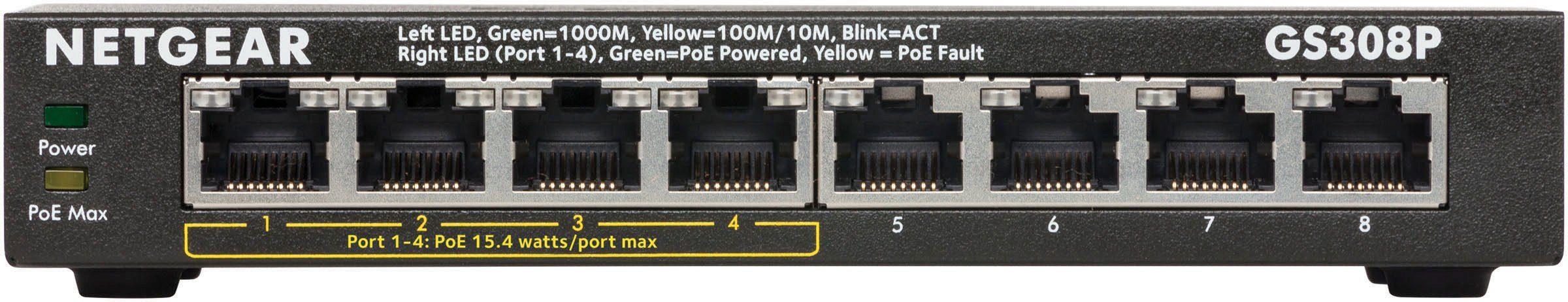 Netgear Switch »8-PORT GB POE SWITCH FANLESS«