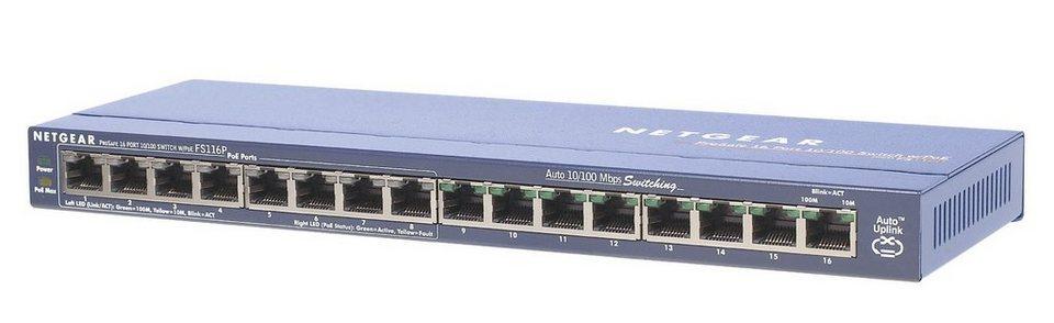 Netgear Switch »16-Port FE Switch mit PoE «